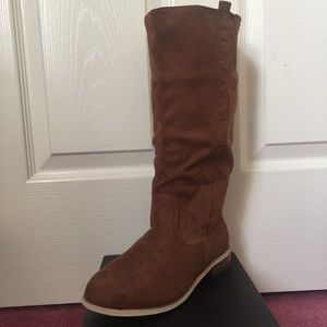 Shoes - Brand New Suede Knee High Boots